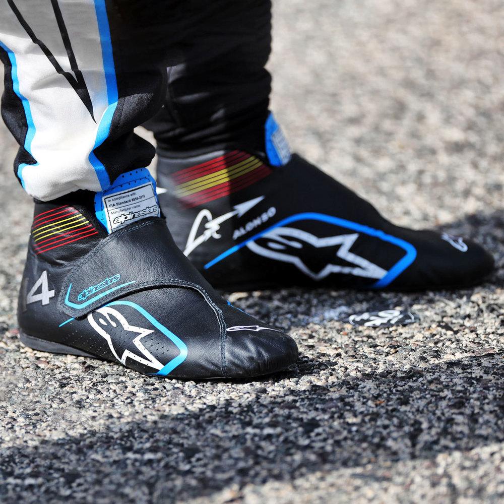 Fernando Alonso 2021 Framed Race-worn Boots - Spanish GP