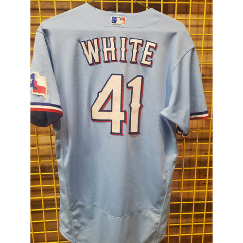 Photo of Eli White Team-Issued White Jersey