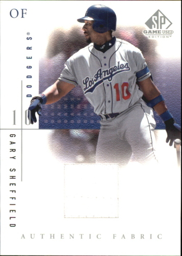 Photo of 2001 SP Game Used Edition Authentic Fabric #GS Gary Sheffield
