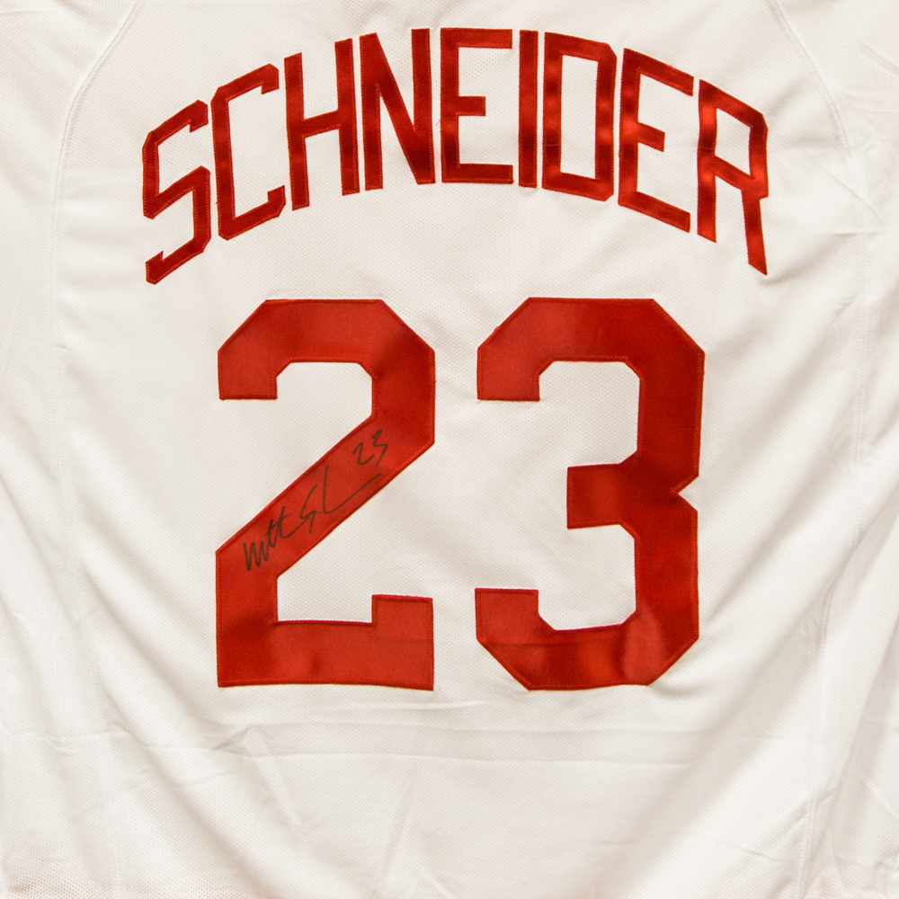 Autographed Mathieu Schneider Jersey from Nicklas Lidstrom Jersey Retirement Night - Detroit Red Wings