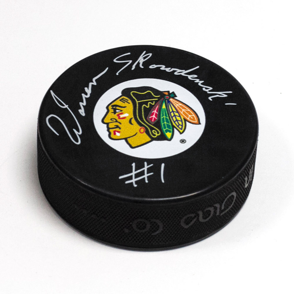 Warren Skorodenski Chicago Blackhawks Autographed Hockey Puck