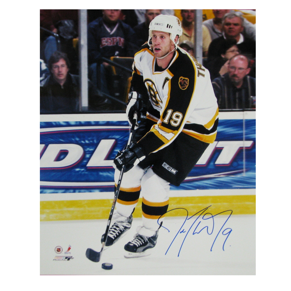 JOE THORNTON Signed Boston Bruins 16 X 20 Photo - 79039