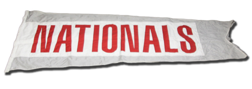 Wrigley Field Collection -- Scoreboard Flag -- Nationals
