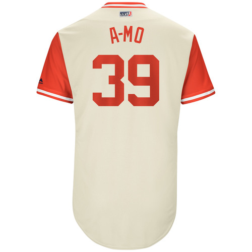 "Photo of Adam ""A-MO"" Morgan Philadelphia Phillies Game-Used Players Weekend Jersey"