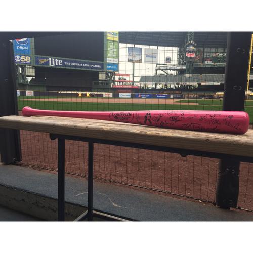 2012 Milwaukee Brewers Team-Signed Bat
