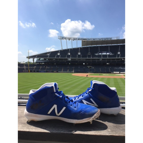Photo of Game-Used Danny Duffy Cleats - 7/03/2018