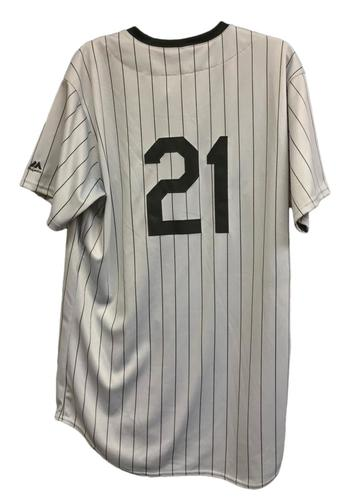 Photo of Travis Shaw Game-Used Milwaukee Bears Jersey and Pants - 1 for 4, Home Run