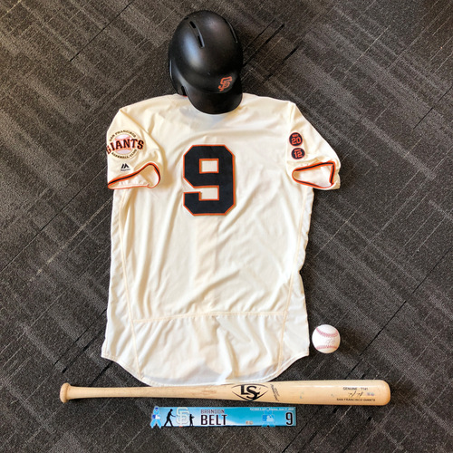 Photo of San Francisco Giants - Brandon Belt Game-Used Memorabilia Ultimate <i>From The Clubhouse</i> Collector's Pack