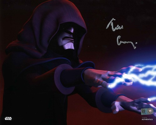 Tim Curry As Darth Sidious  8X10 Autographed In 'SILVER' INK PHOTO