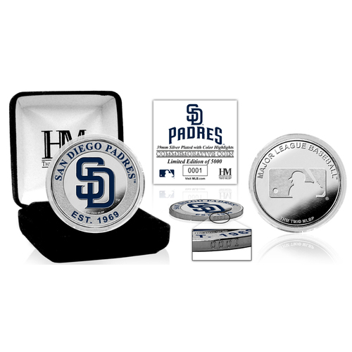 Photo of San Diego Padres Silver Color Coin
