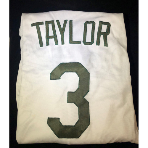 Photo of Chris Taylor Authentic Game-Used 2018 Memorial Day Los Angeles Dodgers Jersey