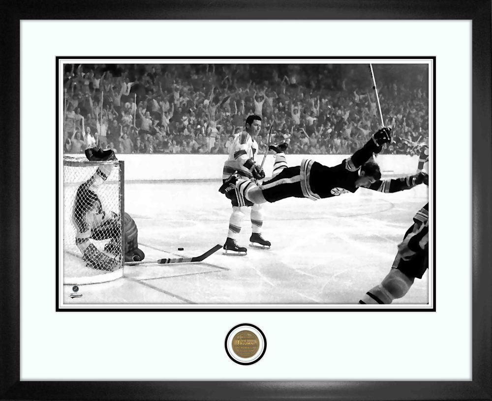 Bobby Orr 16x20 Alumni Frame Bruins The Goal-H
