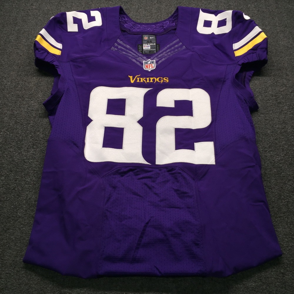 Crucial Catch - Vikings Kyle Rudolph Game Issued Jersey