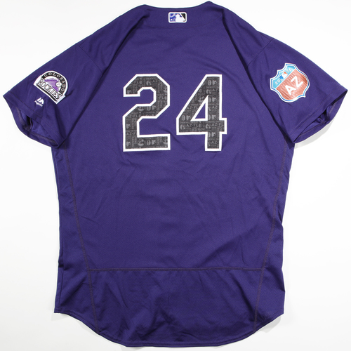 Photo of 2016 Spring Training - Spring Training Game Used Jersey - Jordan Lyles (Rockies)- Size- 48