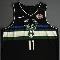 Brook Lopez - Milwaukee Bucks - 2020 NBA Paris Games - Game-Worn Statement Edition Jersey