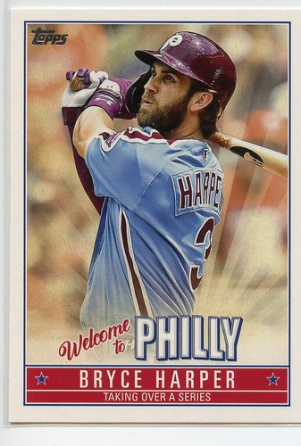 Photo of 2019 Topps Update Bryce Harper Welcome to Philly #BH19 Bryce Harper