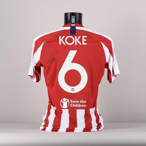 Photo of A signed  Koke's  Club AtlŽtico de Madrid jersey