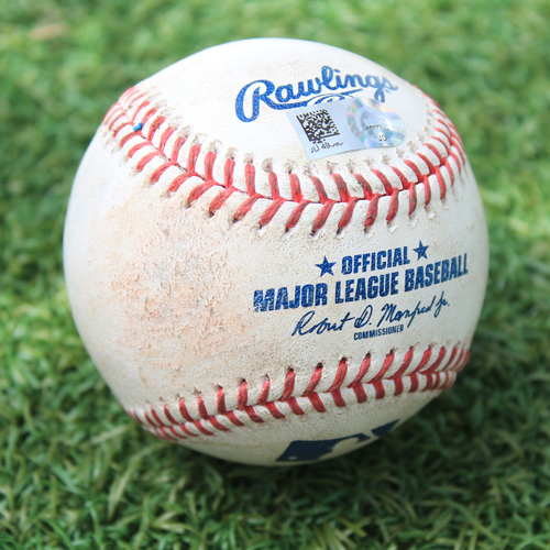 Photo of Game-Used Baseball: Nelson Cruz 1,744th Career Hit (MIN @ KC 8/9/20)