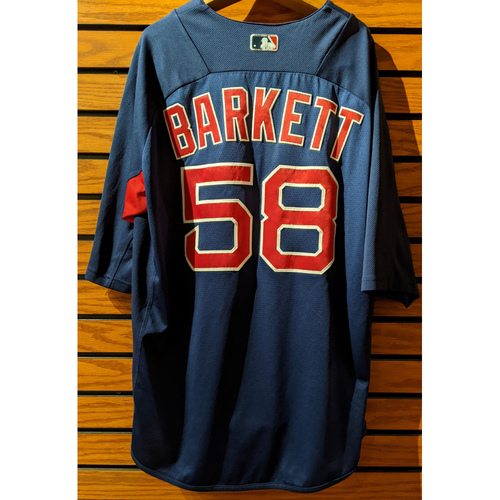 Coach Andy Barkett #58 Team Issue Blue Batting Practice Jersey