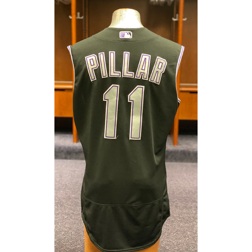 Photo of Colorado Rockies Game-Used 2020 Jersey and Team-Issued Cap: Kevin Pillar