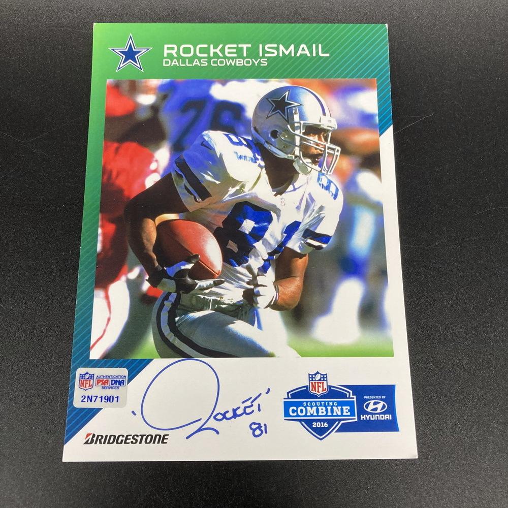 NFL - Cowboys Rocket Ismail Signed Post Card