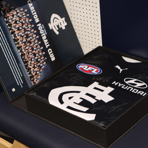 Photo of 2021 AFL Team Signed Guernsey Box Lot #12
