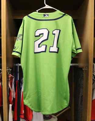 Stockton Ports Zack Gelof Asparagus jersey, #21, Size 46