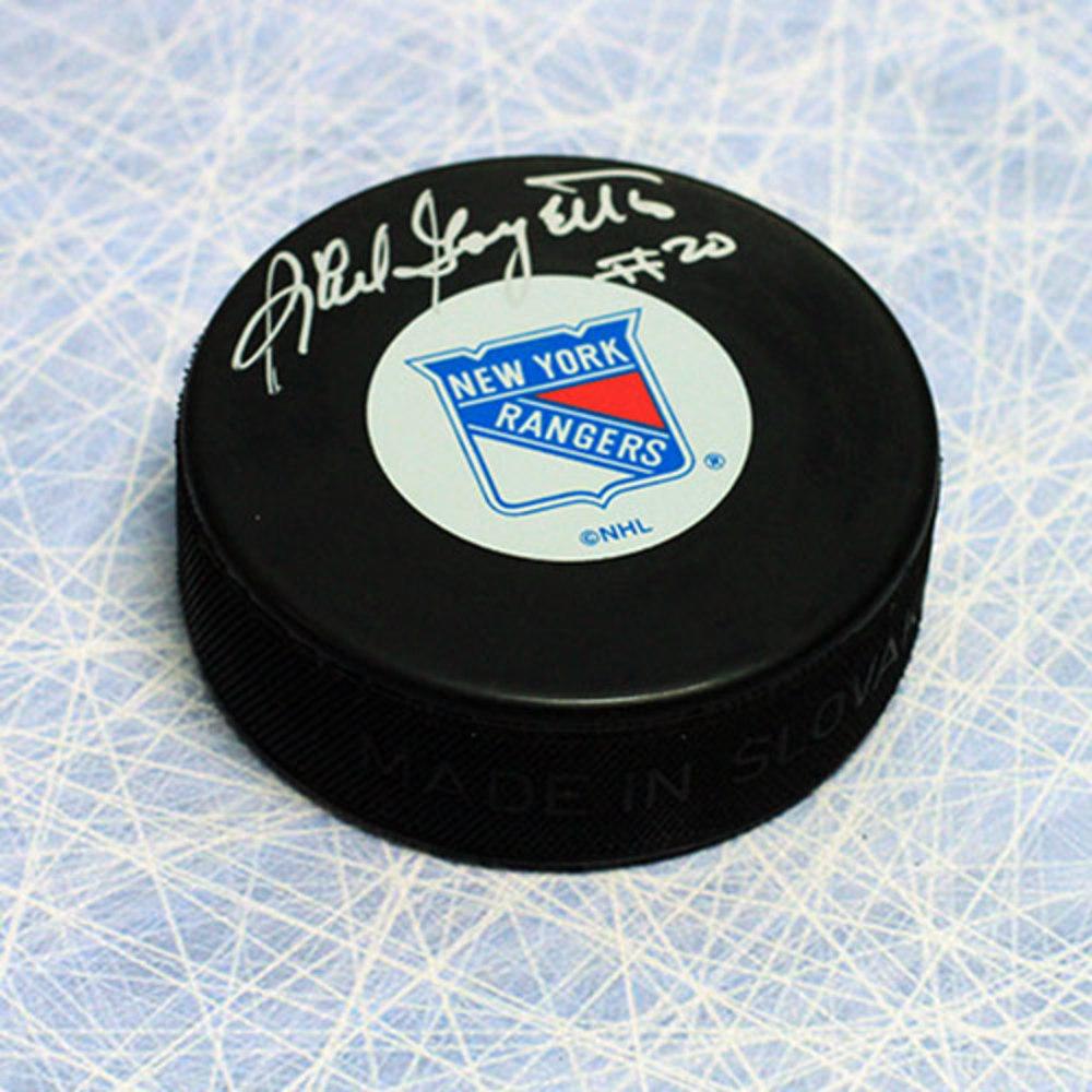 Phil Goyette New York Rangers Autographed Hockey Puck