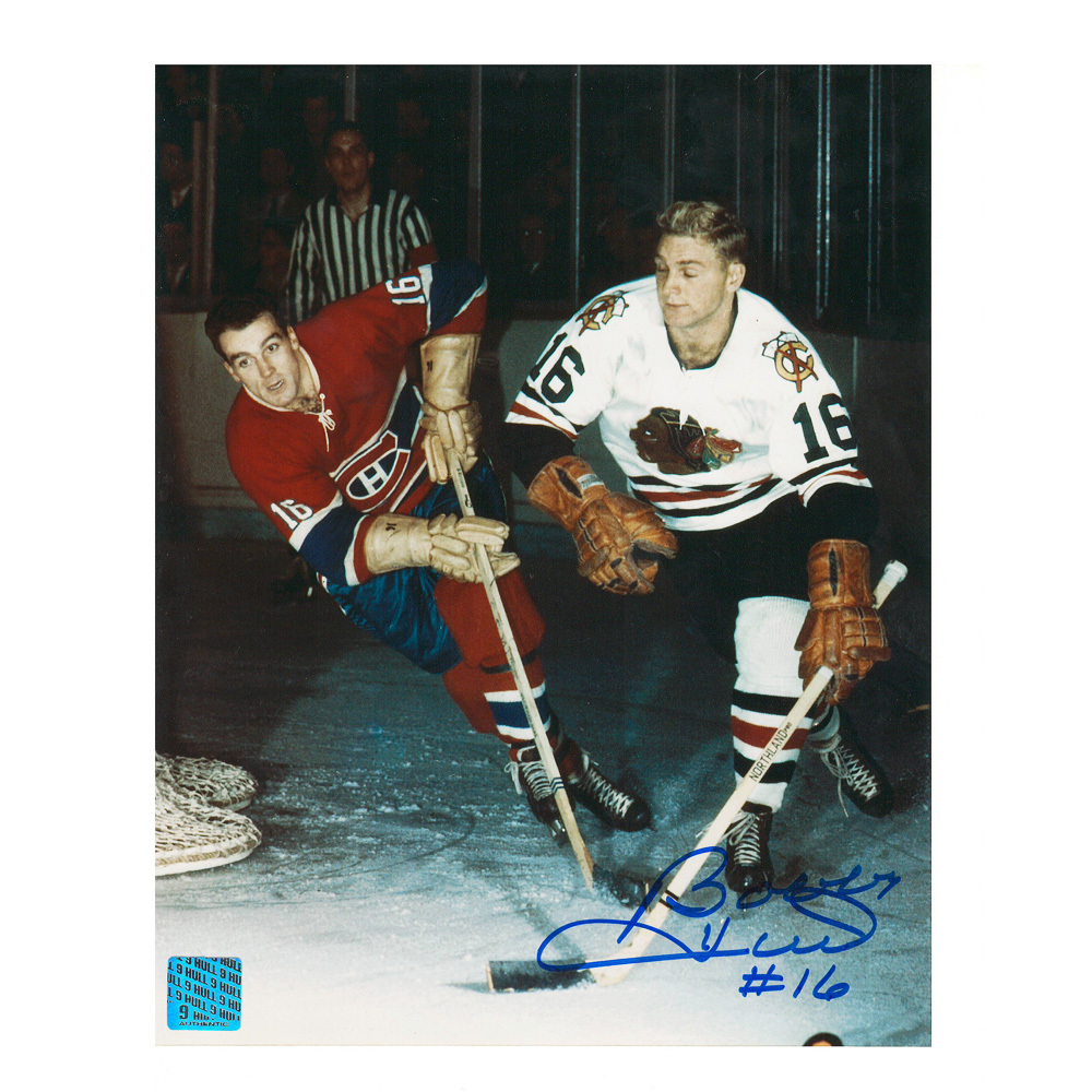 BOBBY HULL Signed Chicago Blackhawks 8 X 10 Photo - 70050
