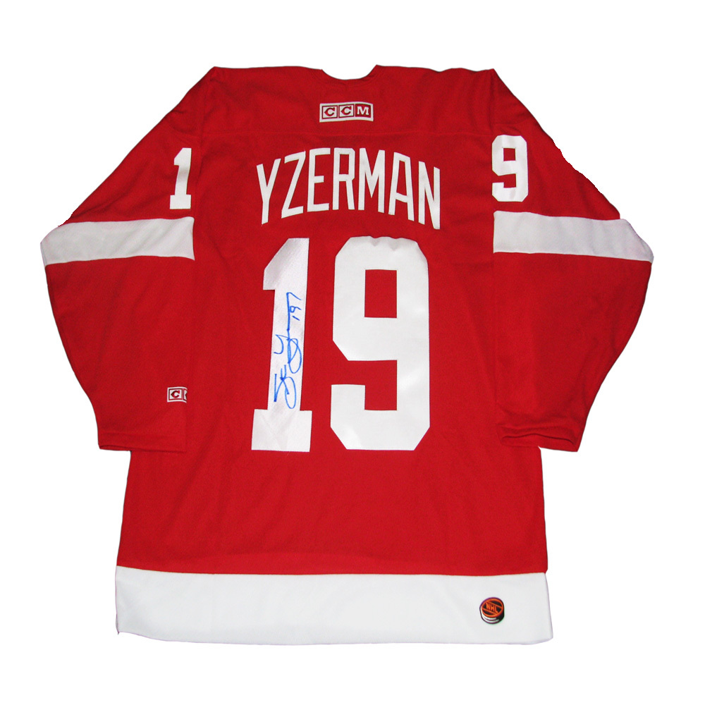 STEVE YZERMAN Signed Detroit Red Wings Red CCM Jersey