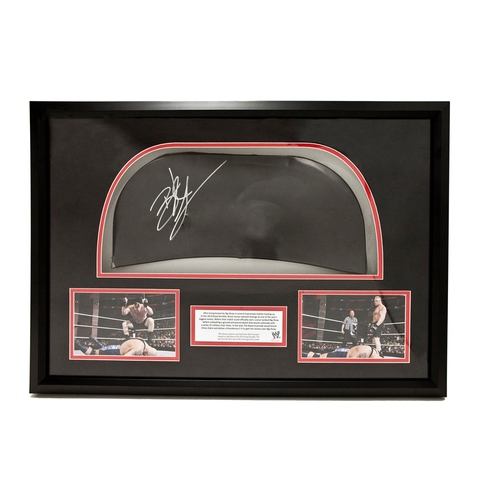 Brock Lesnar SIGNED & Framed piece of steel chair (Royal Rumble 2014)