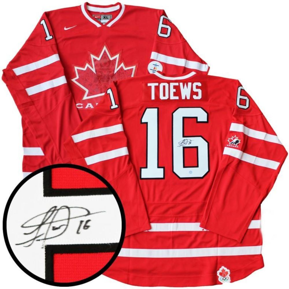 Jonathan Toews - Signed Jersey Canada Olympic Replica Red 2010
