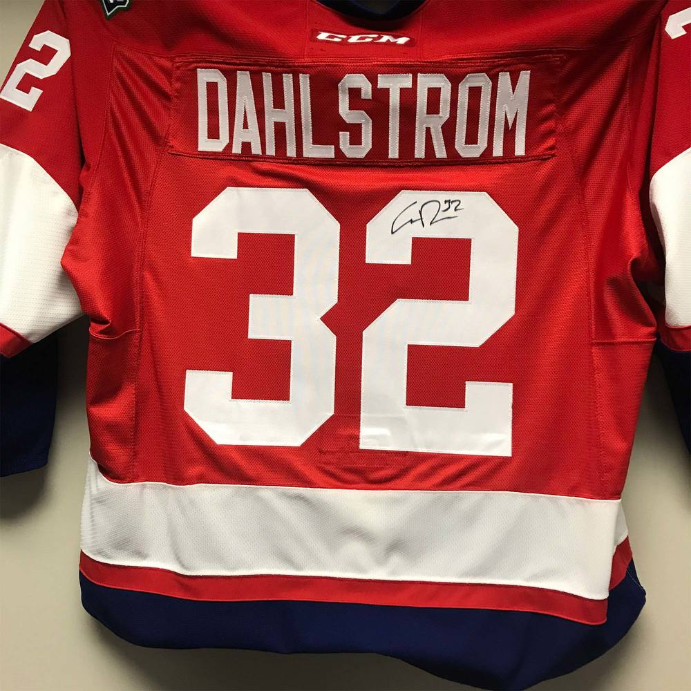 2018 AHL All-Star Challenge Warm-Up Jersey Worn and Signed by #32 Carl Dahlstrom
