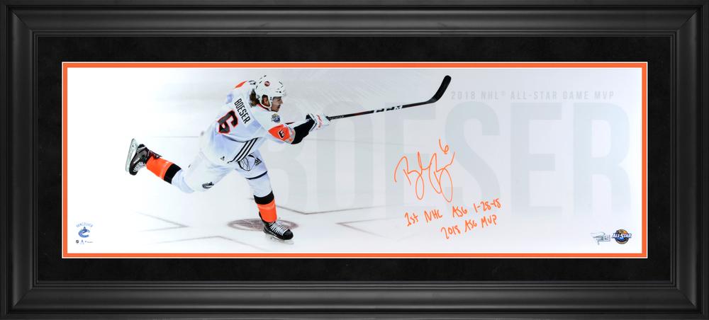 Brock Boeser Vancouver Canucks Framed Autographed 10