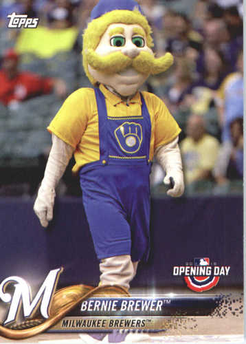Photo of 2018 Topps Opening Day Mascots #M16 Bernie Brewer