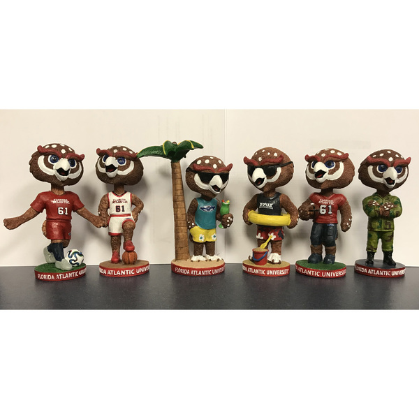 Photo of FAU Collector's Set of Owlsley Bobbleheads