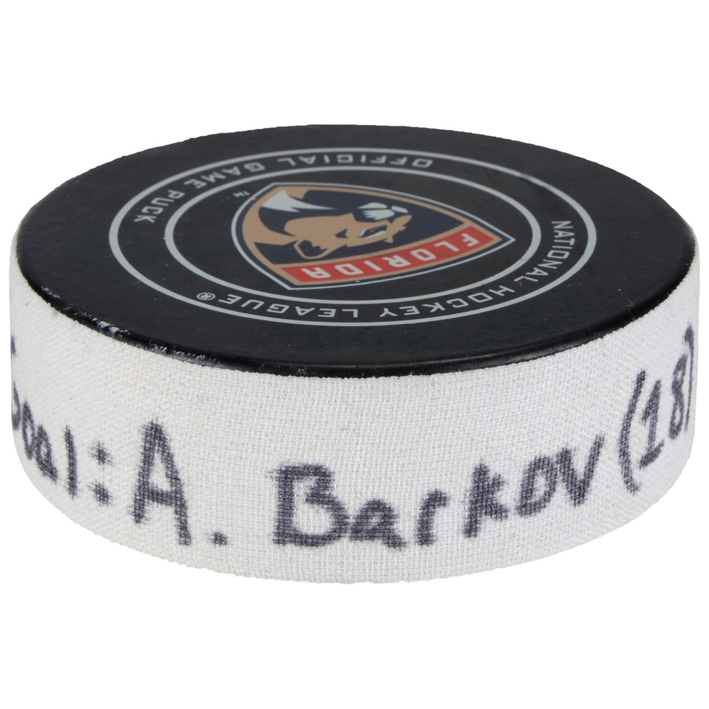 Aleksander Barkov Florida Panthers Goal Scored Puck from February 6, 2018 vs. Vancouver Canucks - Second Goal of Two Goals Scored