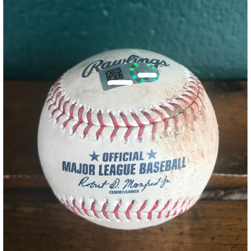 Photo of Cardinals Authentics: Game-Used Baseball Pitched by Jordan Hicks to Carlos Santana *Ball in Dirt 100.6 MPH*