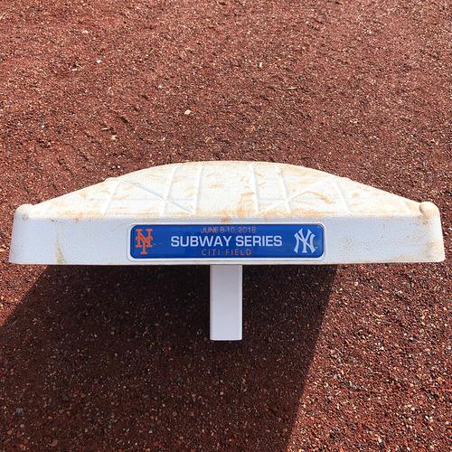 Photo of Game Used Base - Subway Series - 2nd Base, Innings 1-3 - Mets vs. Yankees - 6/10/18