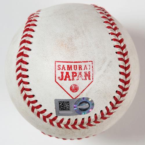 Photo of 2018 Japan Series Game-Used Baseball - Batter: Juan Soto, Pitcher: Kakeru Narita - Double, Top 7th