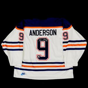 Glenn Anderson  9 - Autographed Edmonton Oilers White Nike Replica Hockey JerseyGlenn  Anderson  9 - Autographed Edmonton Oilers White Nike Replica . f0a922d2e