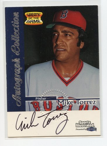 Photo of 1999 Sports Illustrated Greats of the Game Autographs #73 Mike Torrez