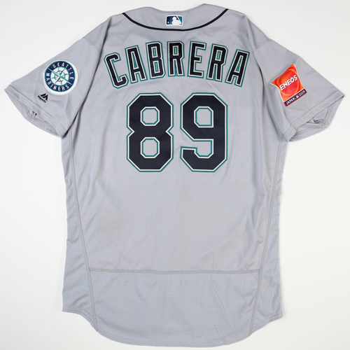 Photo of 2019 Japan Opening Day Series - Game Used Jersey - Nasusel Cabrera, Seattle Mariners at Yomiuri Giants/Seattle Mariners at Oakland Athletics -3/18/2019 , 3/21/2019