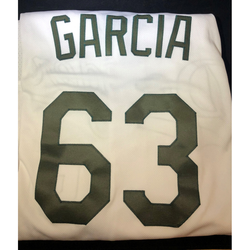 Photo of Yimi Garcia Authentic Game-Used 2018 Memorial Day Los Angeles Dodgers Jersey