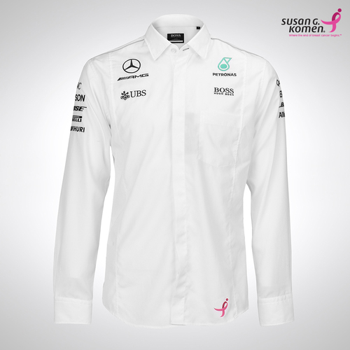 Photo of Mercedes-AMG Petronas Motorsport Long Sleeve Shirt - Supporting the Susan G.K...