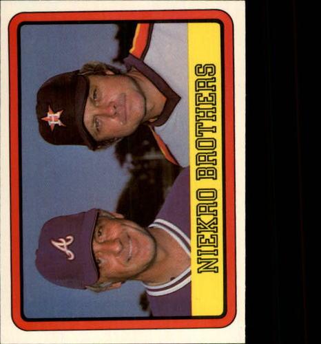 Photo of 1983 Donruss #613 Joe Niekro/Phil Niekro