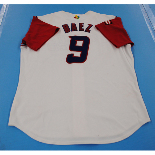Photo of 2006 Inaugural World Baseball Classic: Federico Baez Game-worn Team Puerto Rico Home Jersey