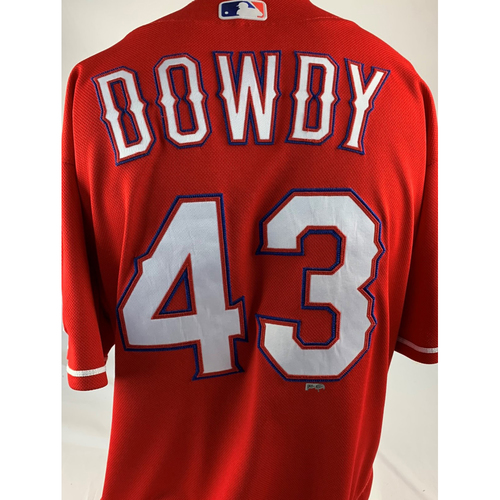 Photo of Game-Used Red Jersey - Kyle Dowdy - 3/30/2019 - Cubs at Rangers