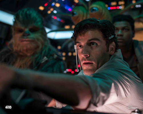 Poe Dameron, Finn, Chewbacca and Klaud