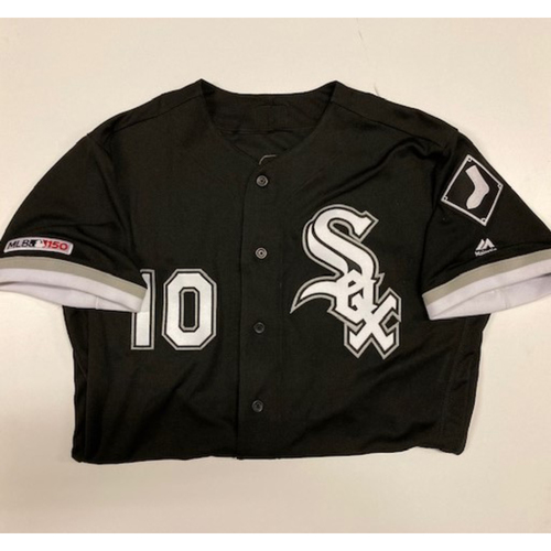Photo of Yoan Moncada Game-Used Black Alternate Jersey